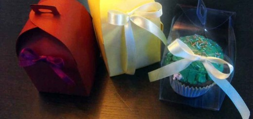 Cutiute carton colorat briosa, cupcakes