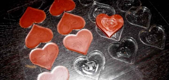 Forme pentru turnat ciocolata model inima