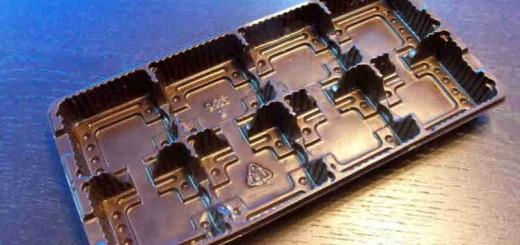 Caserole biscuiti ciocolata 8 alveole Ambalaje Plastic | Ambalaje Din Plastic