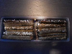 Containers with sesame sticks Ambalaje Plastic   Ambalaje Din Plastic