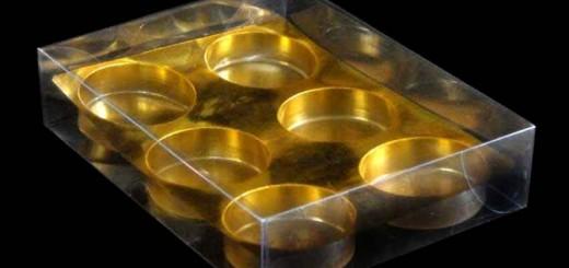 Cutii din plastic cu chesa aurie bomboane Ambalaje Plastic   Ambalaje Din Plastic