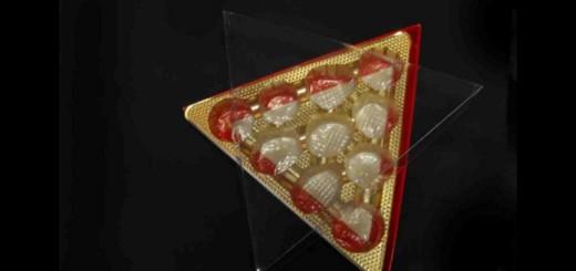 Cutii din plastic aurii forma triunghi Ambalaje Plastic | Ambalaje Din Plastic
