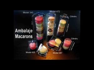 Cylinder macaron box Ambalaje Plastic | Ambalaje Din Plastic