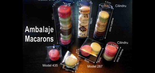 Cutii cilindrice Macarons Ambalaje Plastic   Ambalaje Din Plastic