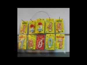 Display plastic cifre aniversare, display plastic lumanari Ambalaje Plastic | Ambalaje Din Plastic