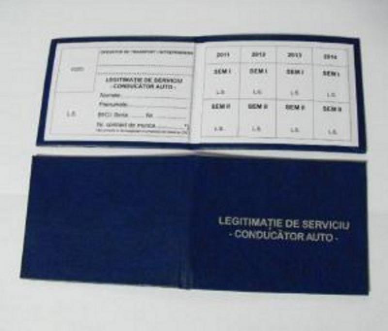 Legitimatii de serviciu ARR conducator auto