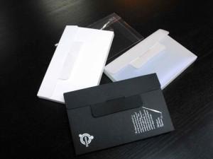 Plastic folders, cardboard folders